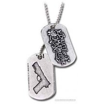 Bullet For My Valentine Script And Gun Dog Tag