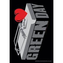 Green Day Poster Textiel
