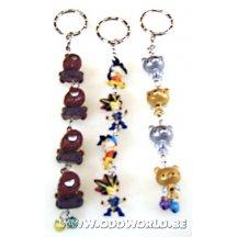 Dragonball Yugi Oh And Metal Bear Keychain