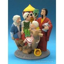 Bob Et Bobette De Tartaarse Helm Group Statue