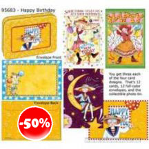 Mary Engelbreit Happy Birthday Set With Decorative Tin