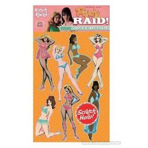 Panty Raid Scratch-n-sniff Pin-up Retro Kitch Sticker Pack